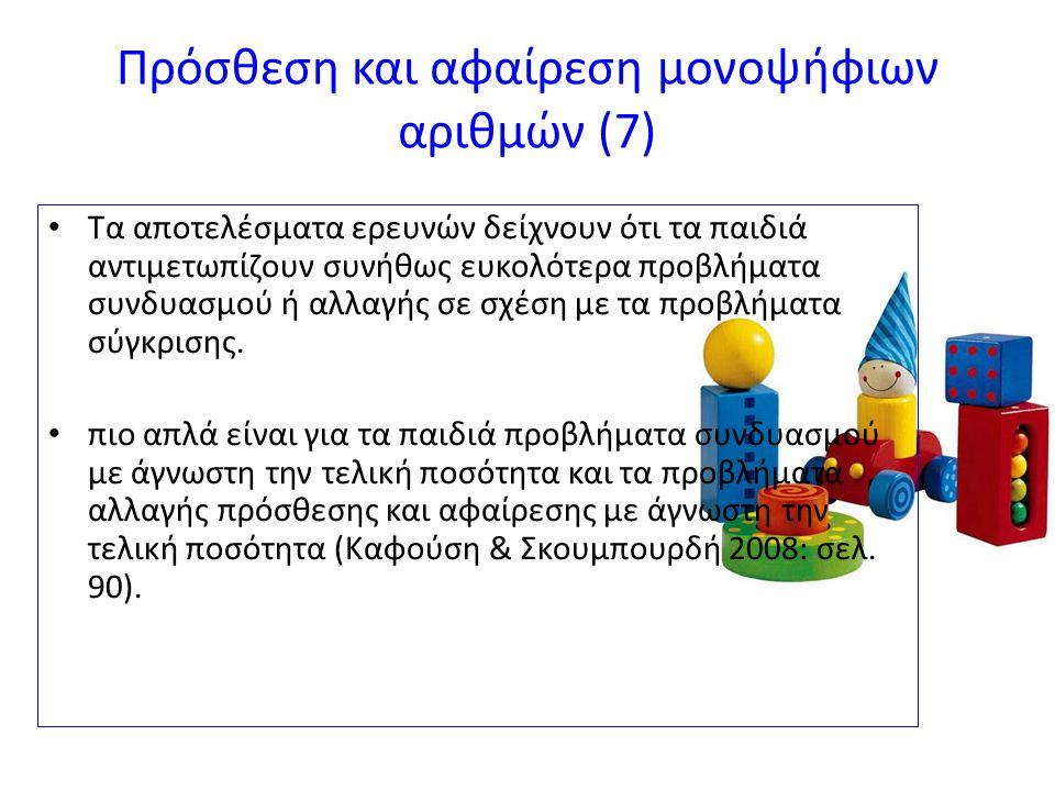 Πρόσθεση και αφαίρεση μονοψήφιων αριθμών (7)