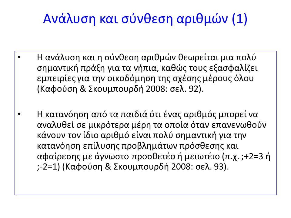 Ανάλυση και σύνθεση αριθμών (1)