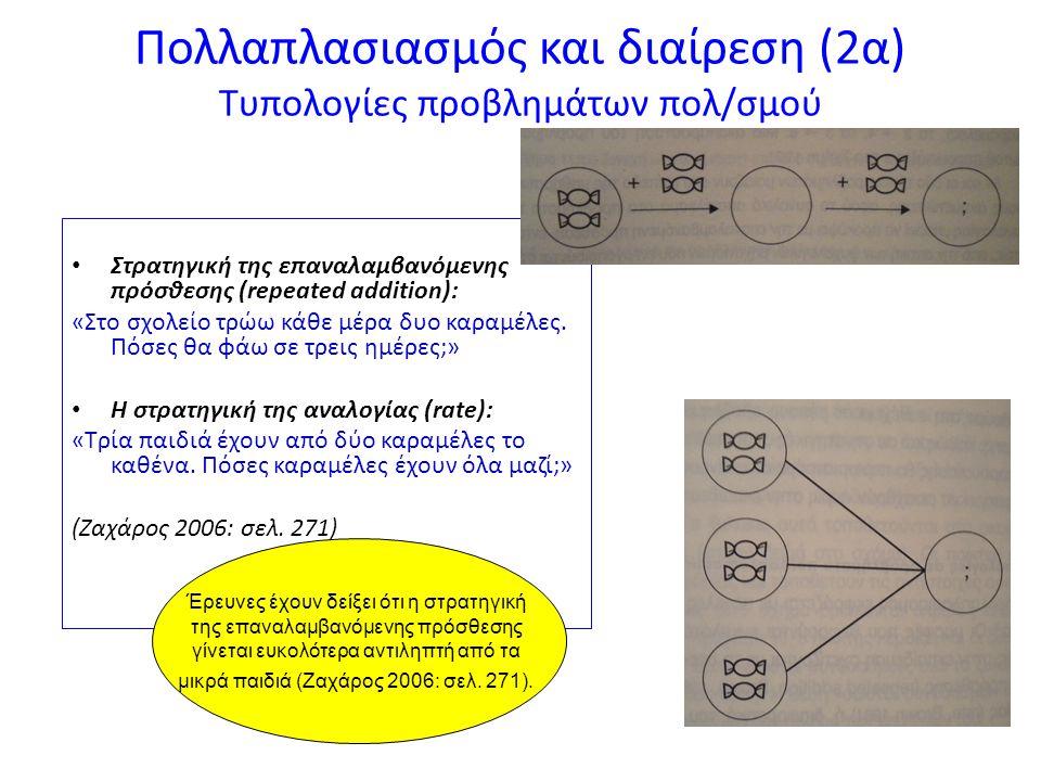 Πολλαπλασιασμός και διαίρεση (2α) Τυπολογίες προβλημάτων πολ/σμού
