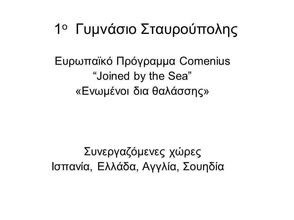 1ο Γυμνάσιο Σταυρούπολης Ευρωπαϊκό Πρόγραμμα Comenius