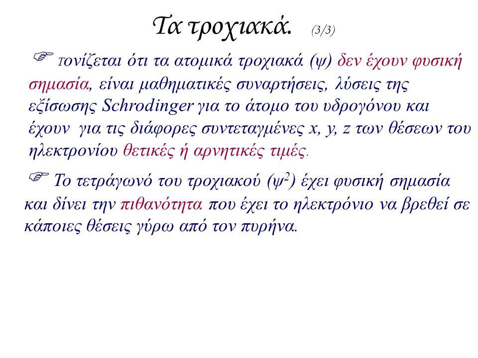 Τα τροχιακά. (3/3)