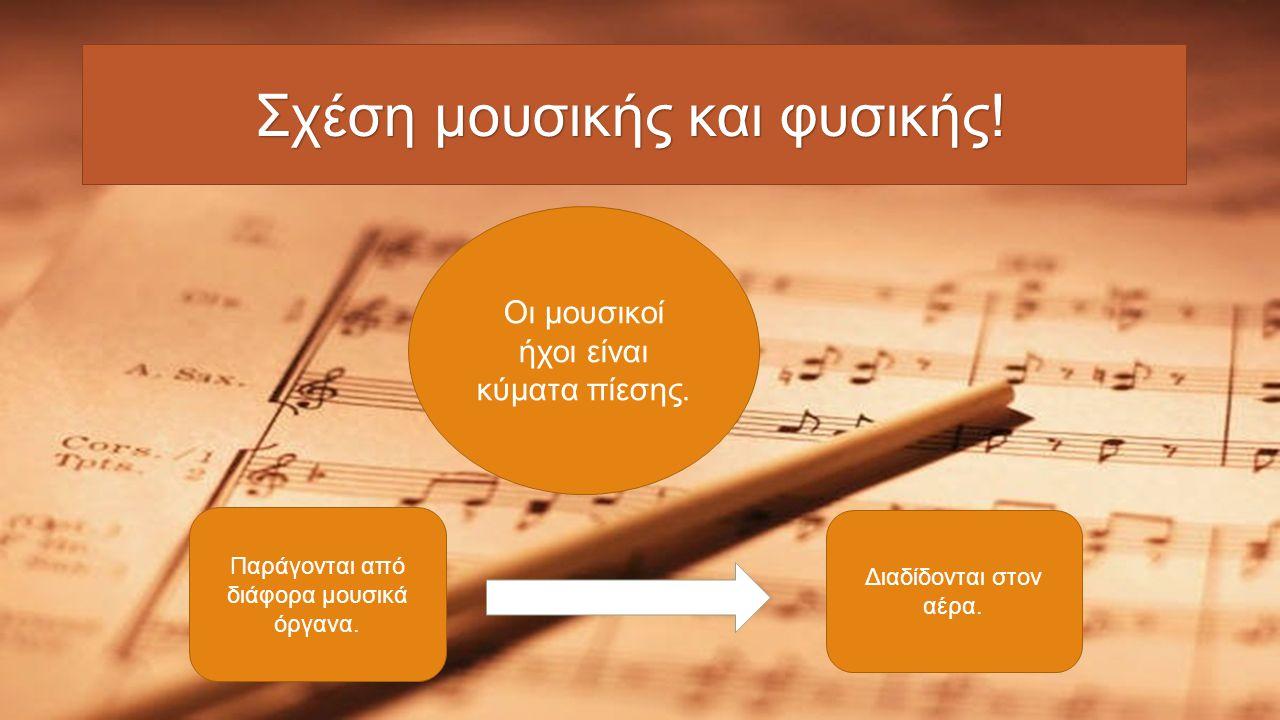 Σχέση μουσικής και φυσικής!