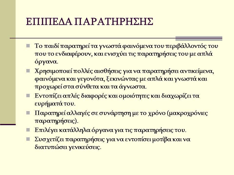 ΕΠΙΠΕΔΑ ΠΑΡΑΤΗΡΗΣΗΣ