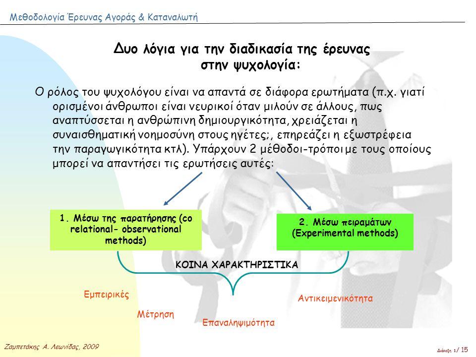 Δυο λόγια για την διαδικασία της έρευνας στην ψυχολογία:
