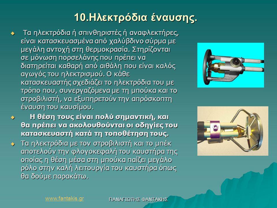 10.Ηλεκτρόδια έναυσης.