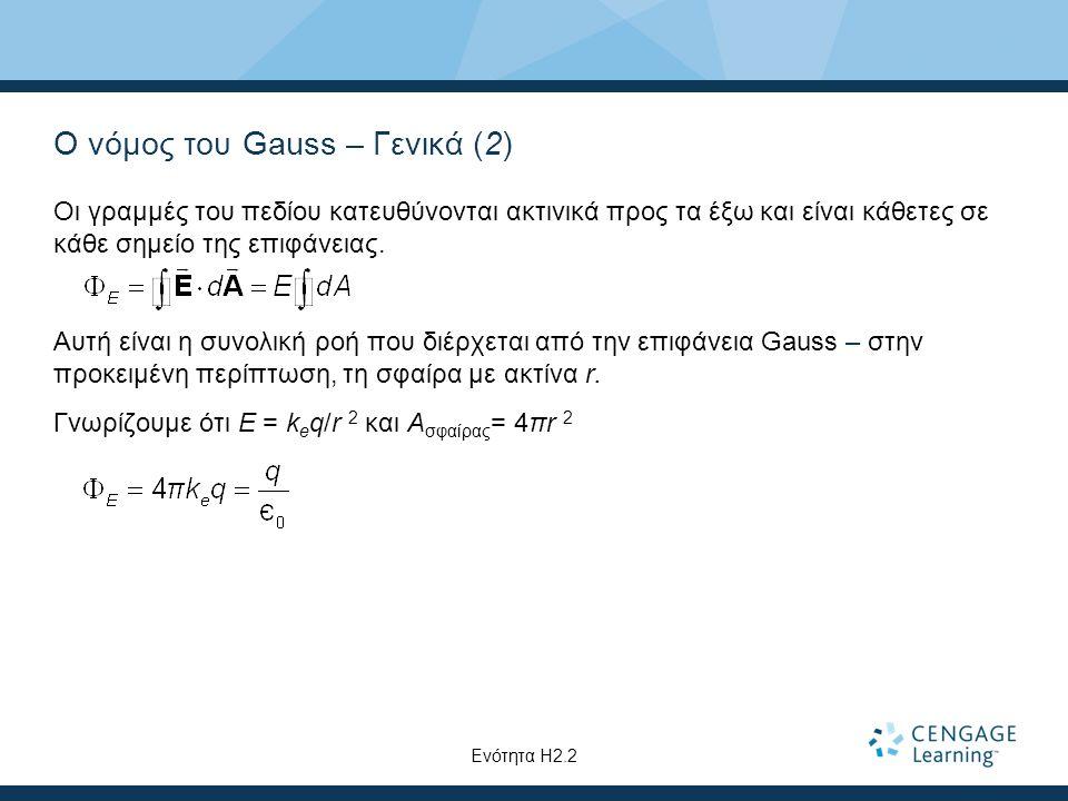 Ο νόμος του Gauss – Γενικά (2)
