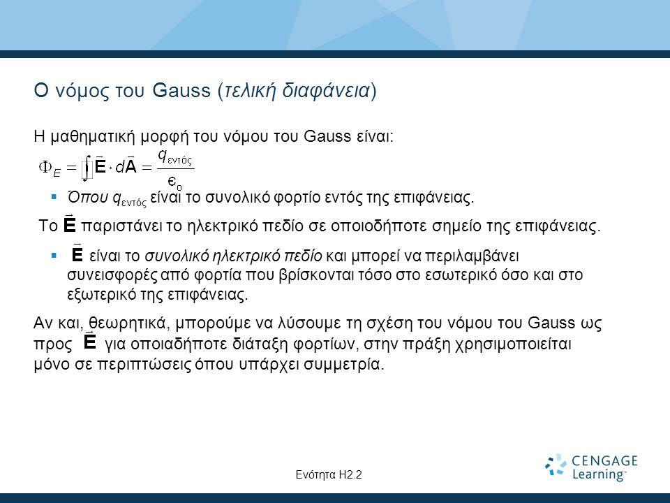 Ο νόμος του Gauss (τελική διαφάνεια)