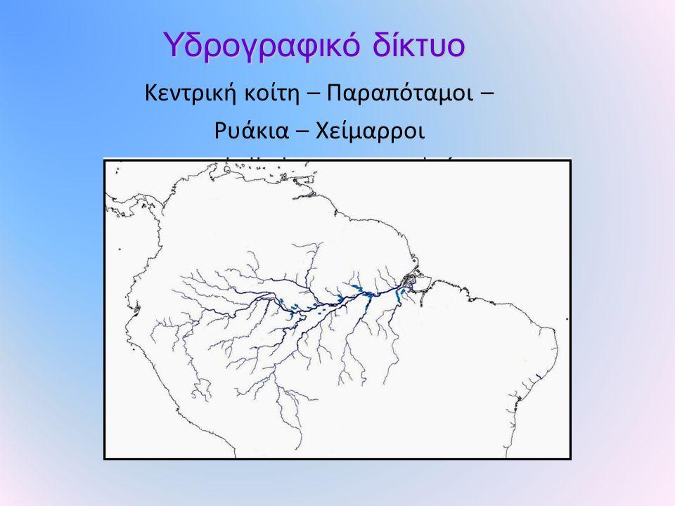 Κεντρική κοίτη – Παραπόταμοι –