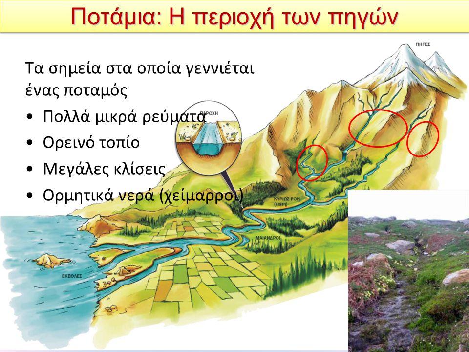 Ποτάμια: Η περιοχή των πηγών