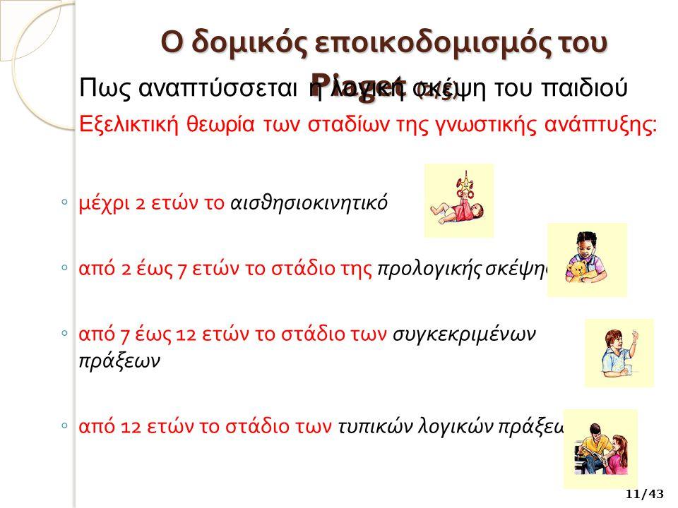 Ο δομικός εποικοδομισμός του Piaget (2/5)