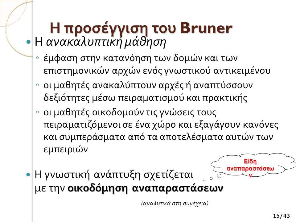 Η προσέγγιση του Bruner