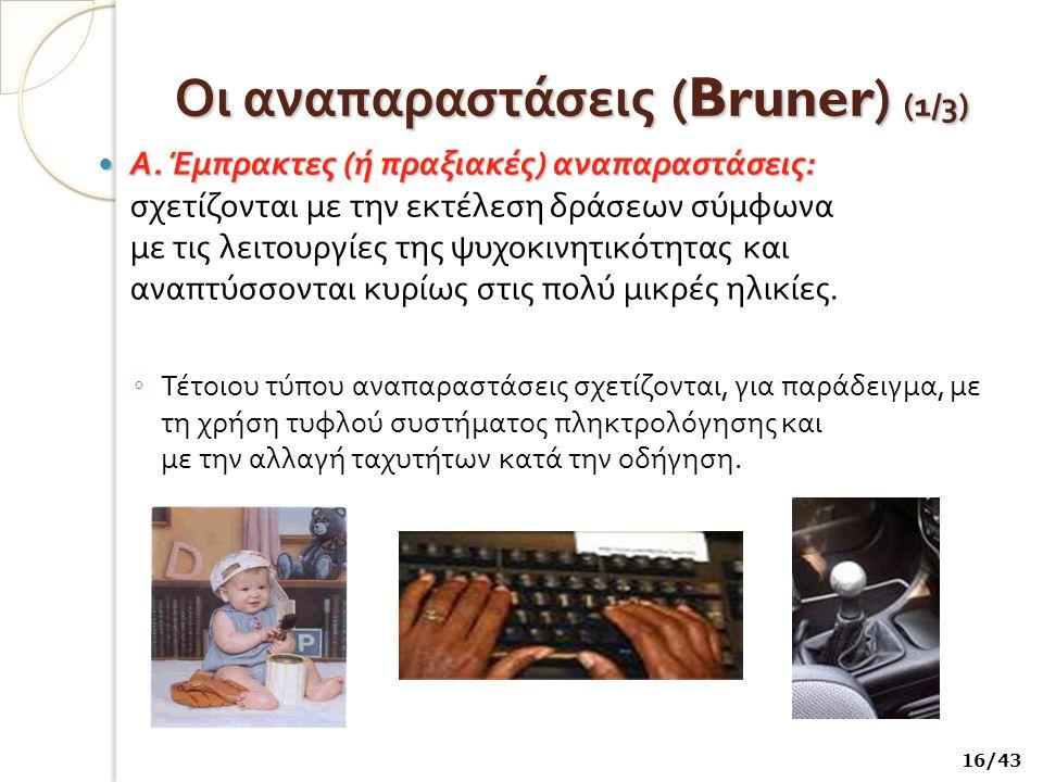 Οι αναπαραστάσεις (Bruner) (1/3)