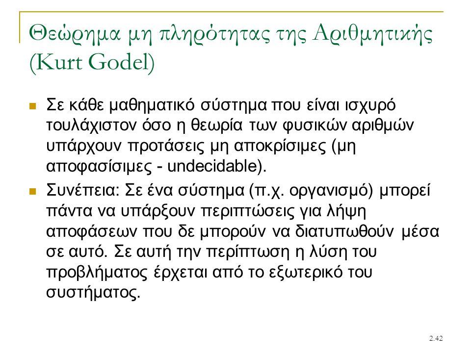 Θεώρημα μη πληρότητας της Αριθμητικής (Kurt Godel)