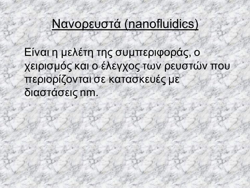 Νανορευστά (nanofluidics)