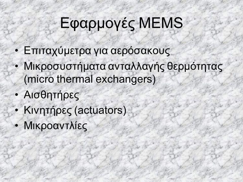 Εφαρμογές MEMS Επιταχύμετρα για αερόσακους