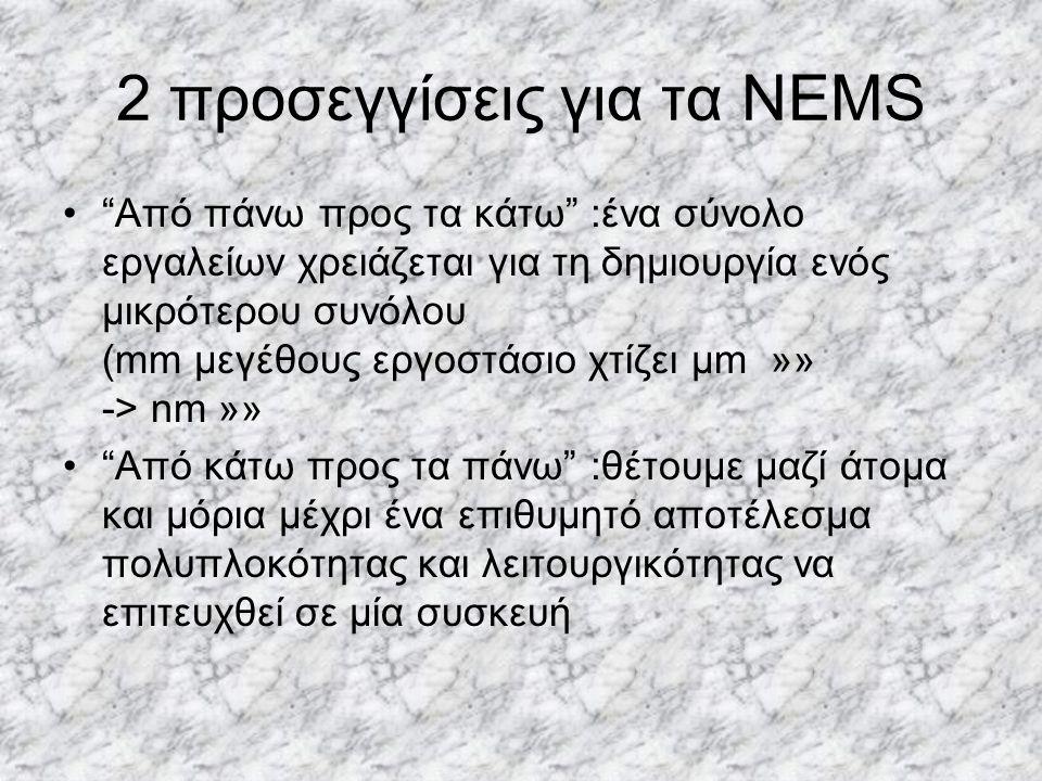 2 προσεγγίσεις για τα NEMS