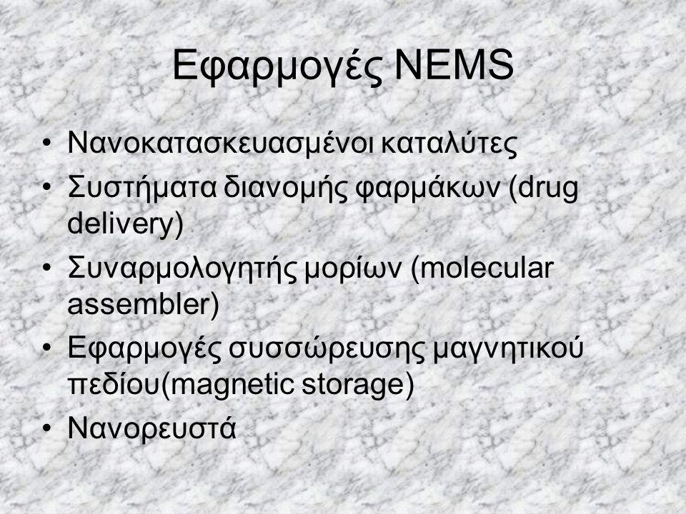 Εφαρμογές NEMS Νανοκατασκευασμένοι καταλύτες