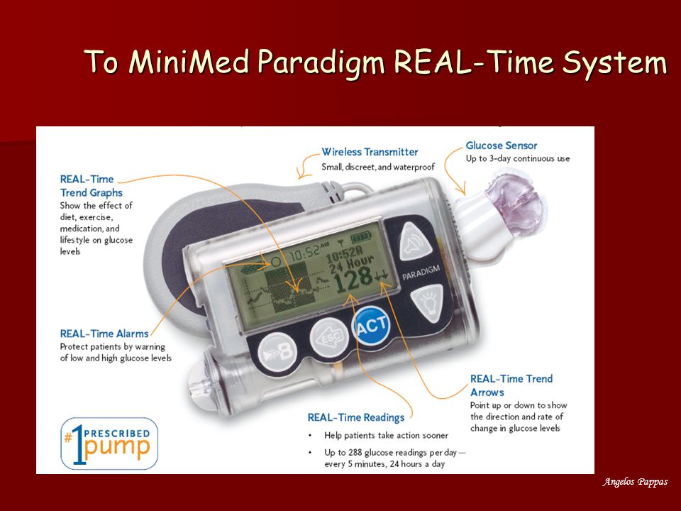 Το MiniMed Paradigm REAL-Time System