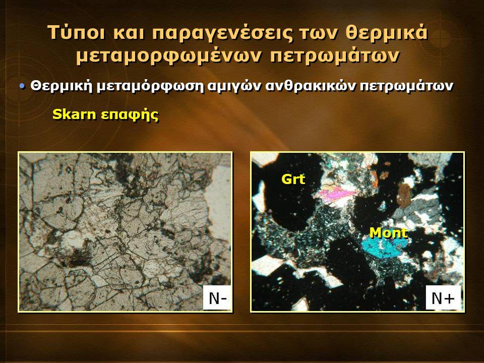 Τύποι και παραγενέσεις των θερμικά μεταμορφωμένων πετρωμάτων
