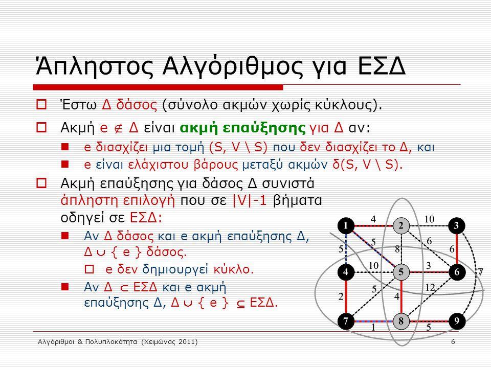 Άπληστος Αλγόριθμος για ΕΣΔ