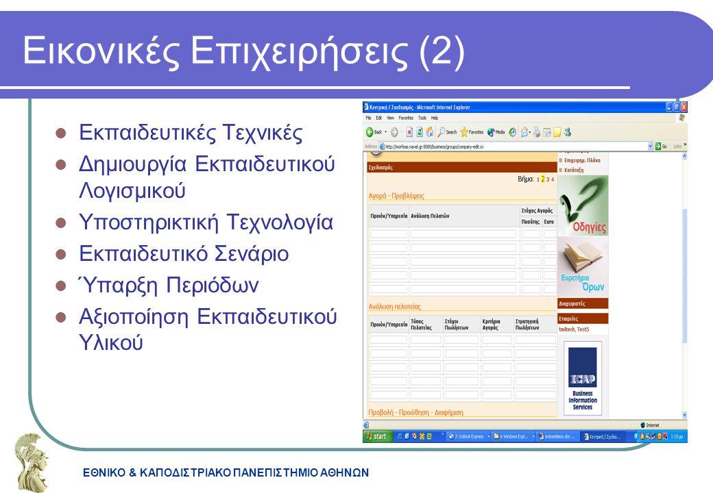 Εικονικές Επιχειρήσεις (2)