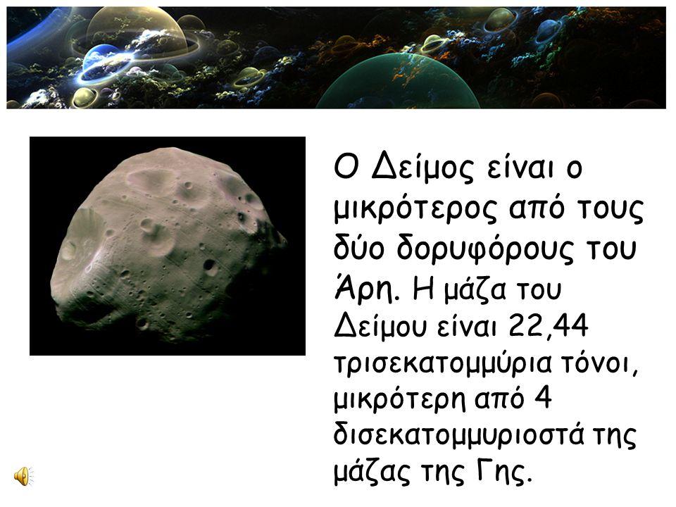 Ο Δείμος είναι ο μικρότερος από τους δύο δορυφόρους του Άρη