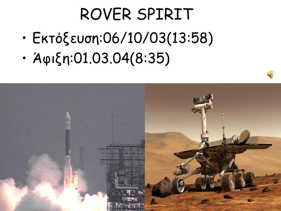 ROVER SPIRIT Εκτόξευση:06/10/03(13:58) Άφιξη:01.03.04(8:35)