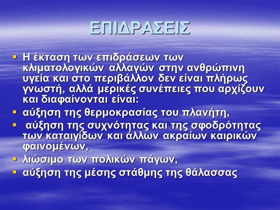 ΕΠΙΔΡΑΣΕΙΣ