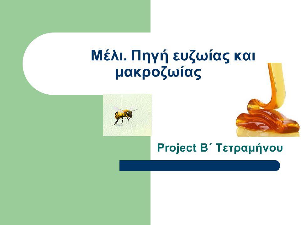 Μέλι. Πηγή ευζωίας και μακροζωίας