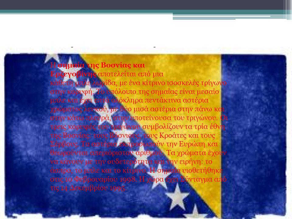 Η σημαία της Βοσνίας