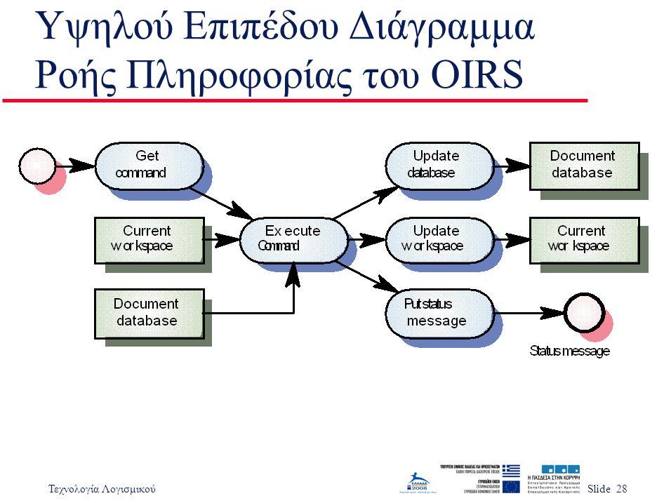 Υψηλού Επιπέδου Διάγραμμα Ροής Πληροφορίας του OIRS