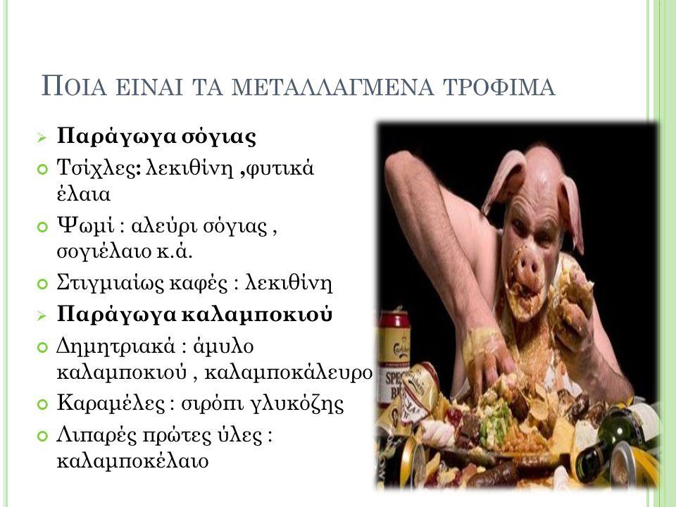 Ποια ειναι τα μεταλλαγμενα τροφιμα