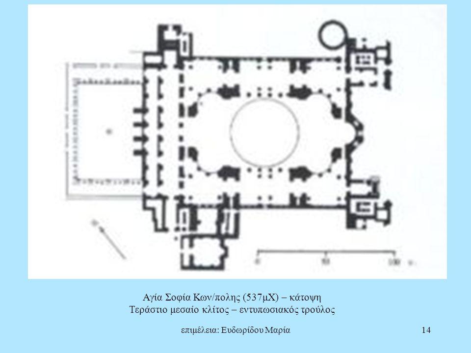 Αγία Σοφία Κων/πολης (537μΧ) – κάτοψη