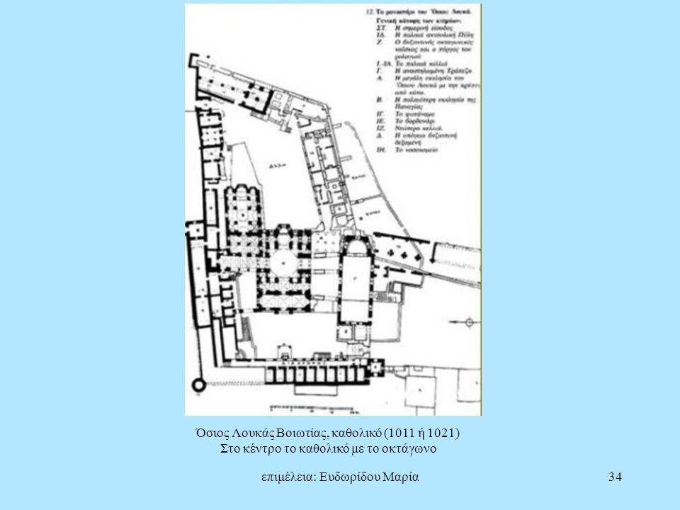 Όσιος Λουκάς Βοιωτίας, καθολικό (1011 ή 1021)
