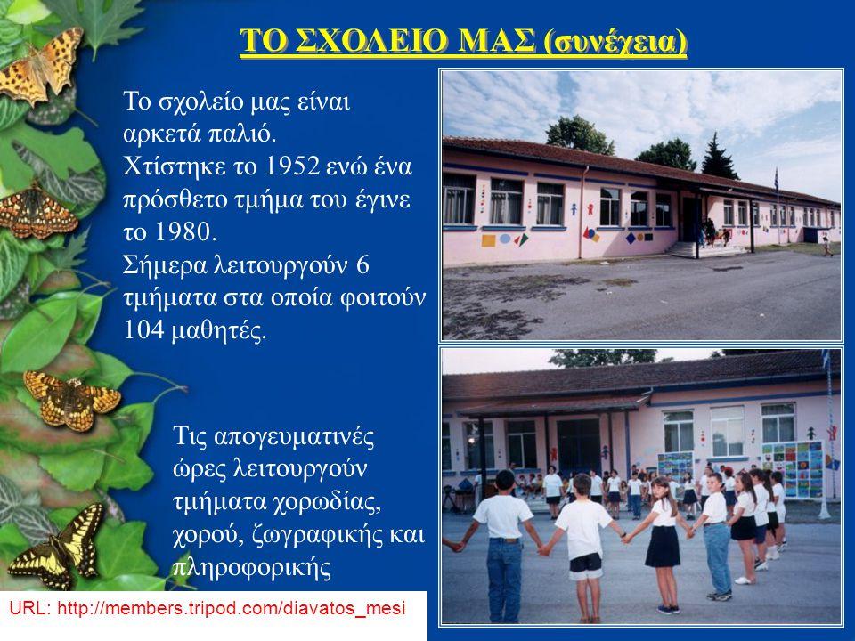 TΟ ΣΧΟΛΕΙΟ ΜΑΣ (συνέχεια)