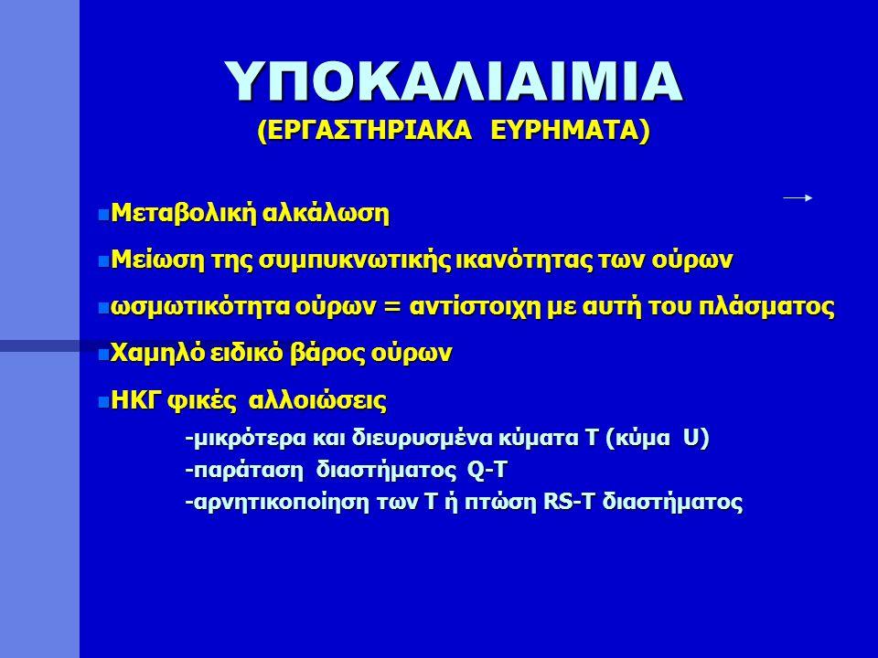 ΥΠΟΚΑΛΙΑΙΜΙΑ (ΕΡΓΑΣΤΗΡΙΑΚA ΕΥΡΗΜΑΤΑ)