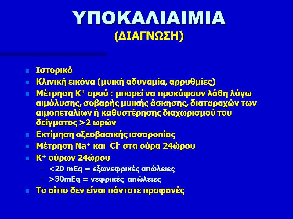 ΥΠΟΚΑΛΙΑΙΜΙΑ (ΔΙΑΓΝΩΣΗ)