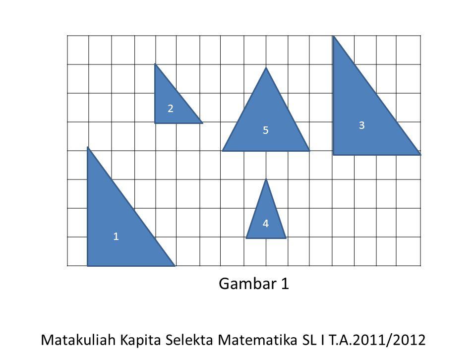 Gambar 1 Matakuliah Kapita Selekta Matematika SL I T.A.2011/2012 3 2 5