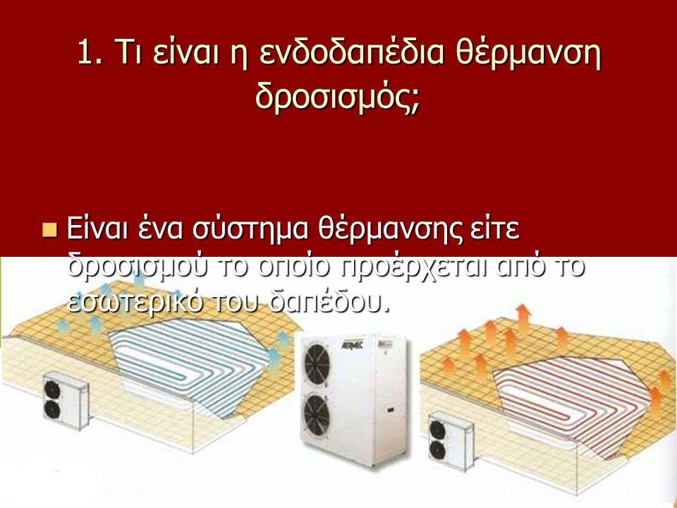 1. Τι είναι η ενδοδαπέδια θέρμανση δροσισμός;