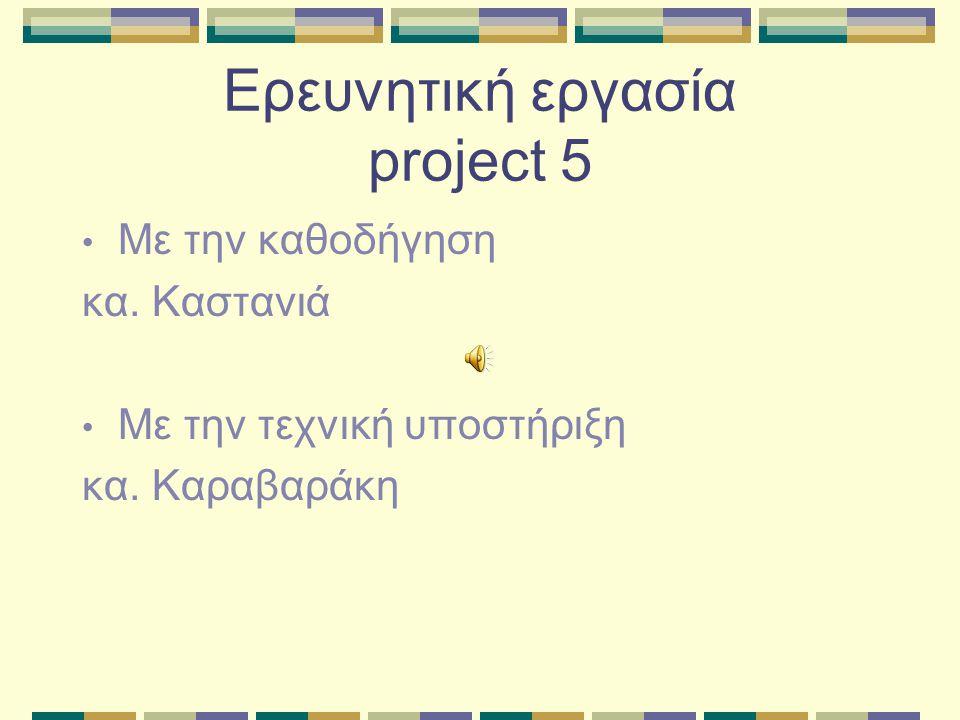 Ερευνητική εργασία project 5