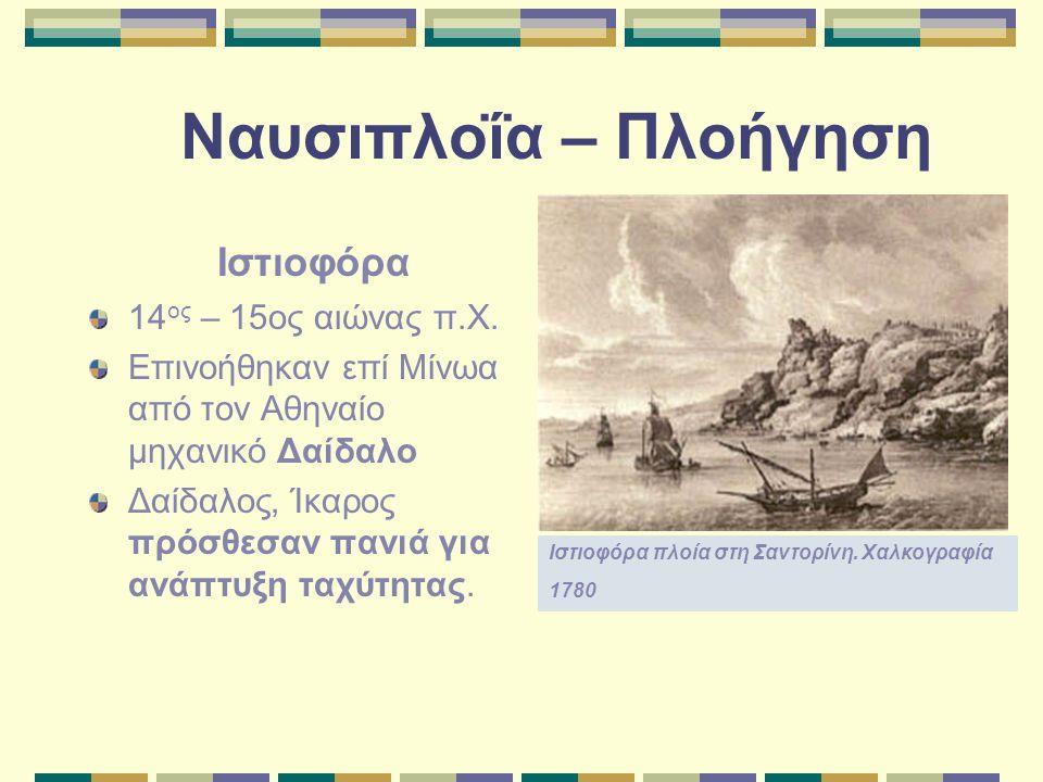 Ναυσιπλοΐα – Πλοήγηση Ιστιοφόρα 14ος – 15ος αιώνας π.Χ.