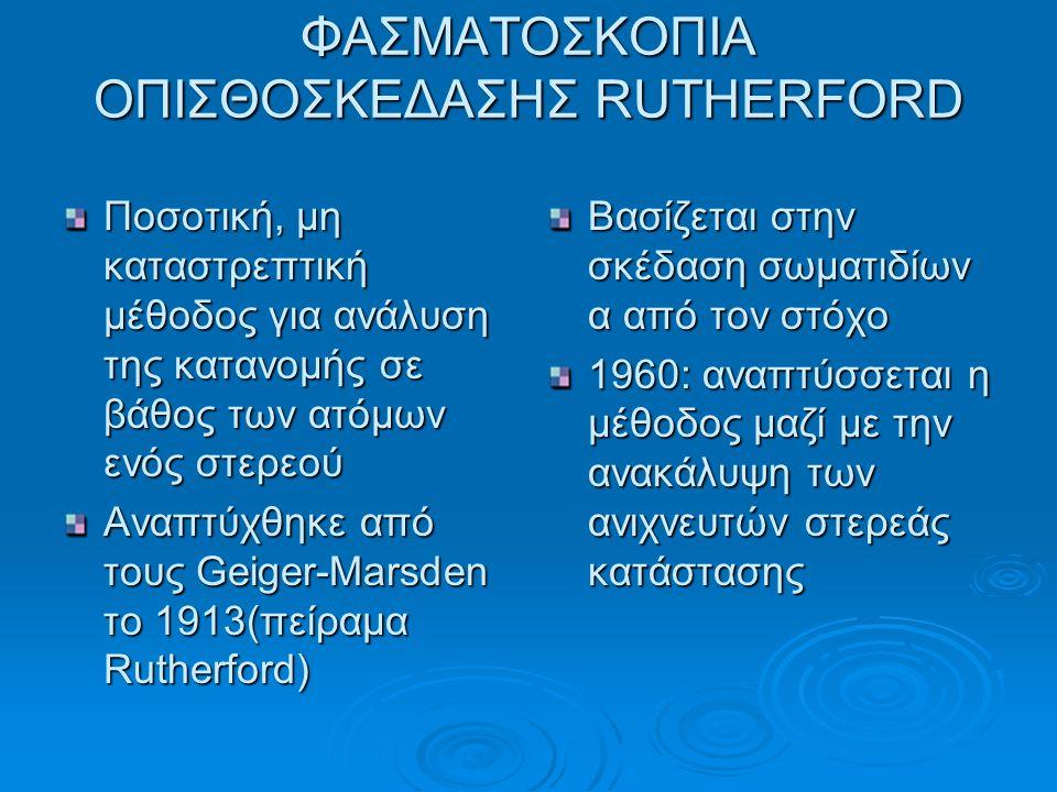 ΦΑΣΜΑΤΟΣΚΟΠΙΑ ΟΠΙΣΘΟΣΚΕΔΑΣΗΣ RUTHERFORD
