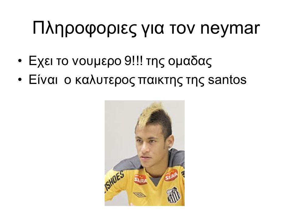 Πληροφοριες για τον neymar