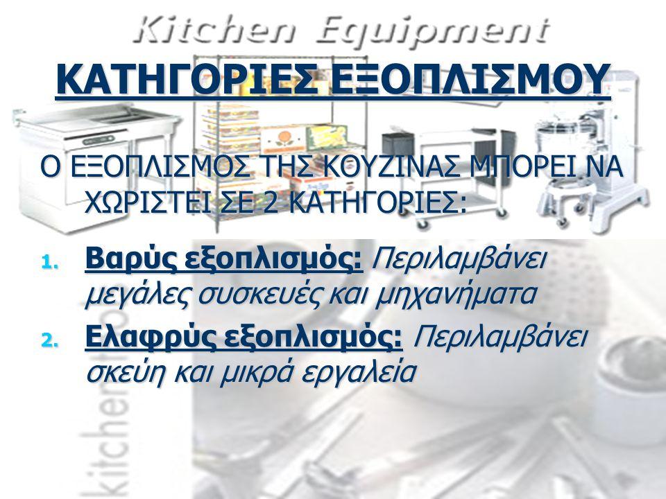 ΚΑΤΗΓΟΡΙΕΣ ΕΞΟΠΛΙΣΜΟΥ