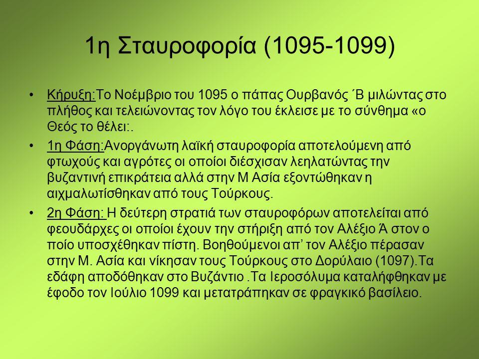 1η Σταυροφορία (1095-1099)