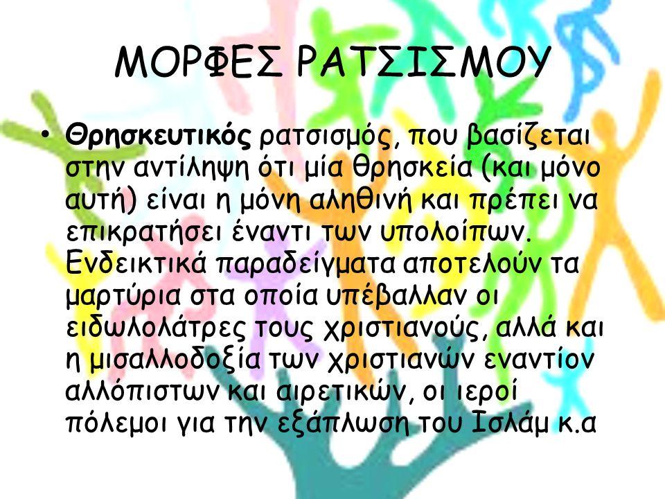 ΜΟΡΦΕΣ ΡΑΤΣΙΣΜΟΥ