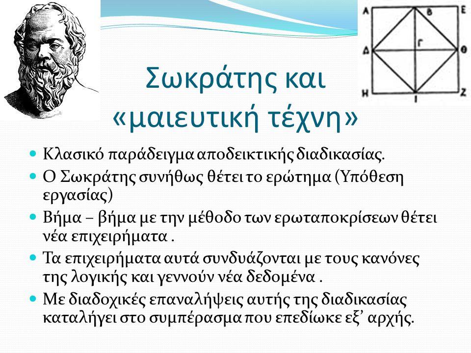Σωκράτης και «μαιευτική τέχνη»