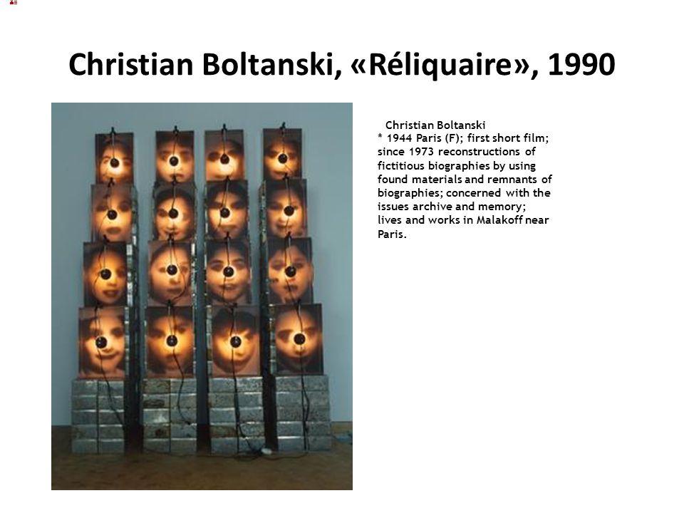 Christian Boltanski, «Réliquaire», 1990
