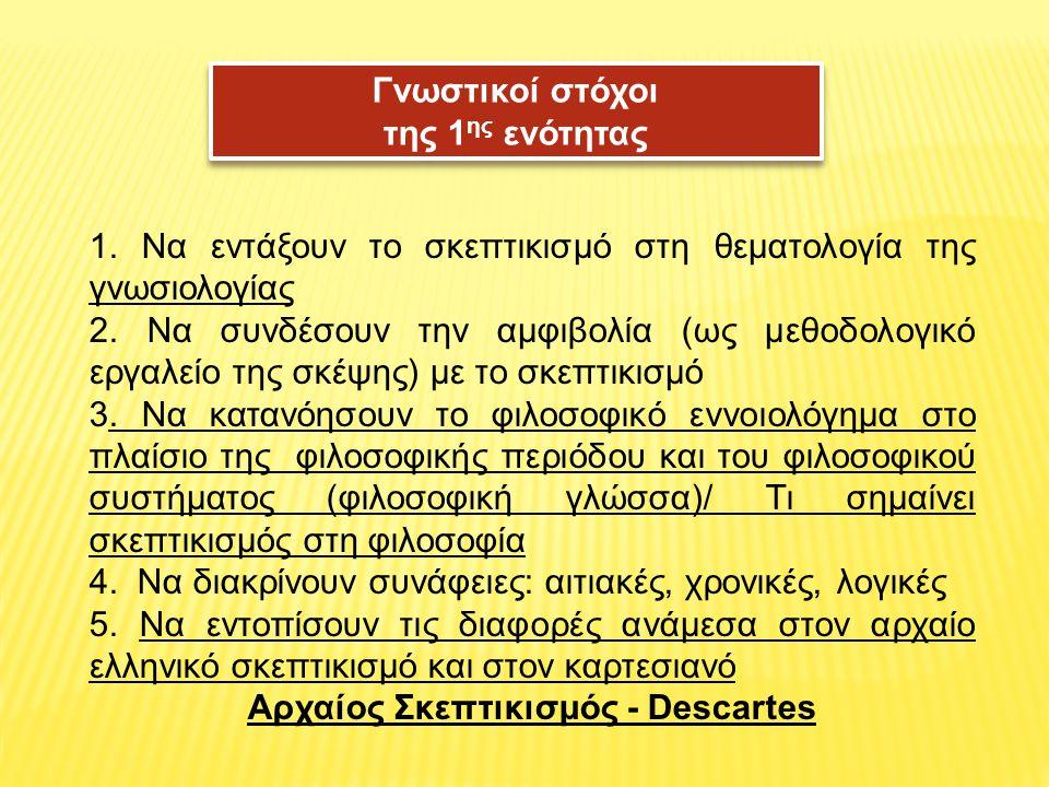 Αρχαίος Σκεπτικισμός - Descartes