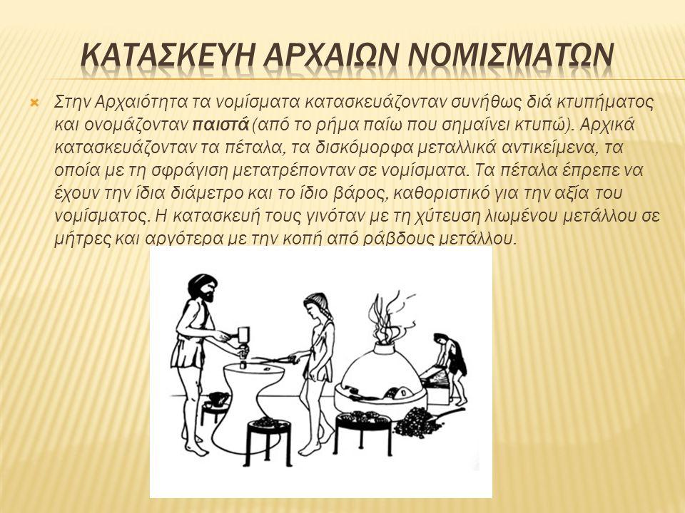 ΚΑΤΑΣΚΕΥΗ ΑΡΧΑΙΩΝ ΝΟΜΙΣΜΑΤΩΝ